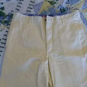 Chaps by Ralph Lauren yellow, 4 pocket shorts